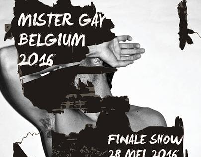 MISTER GAY BELGIUM 2016  POSTER//FLYER