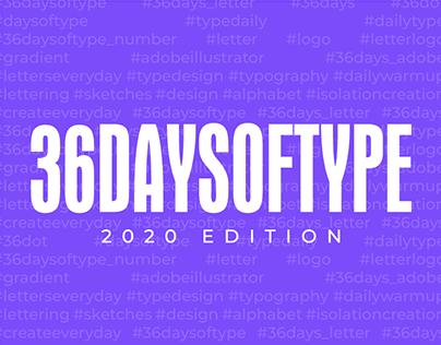36 Days of Type - 2020