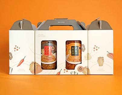 萬生 黃金茸禮盒設計