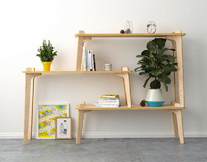 Repisa 01   Modular Shelf