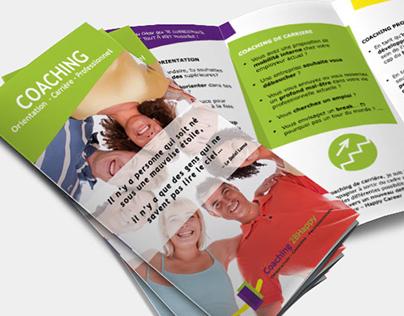 """""""Coaching 2BHappy"""" trifold leaflet"""