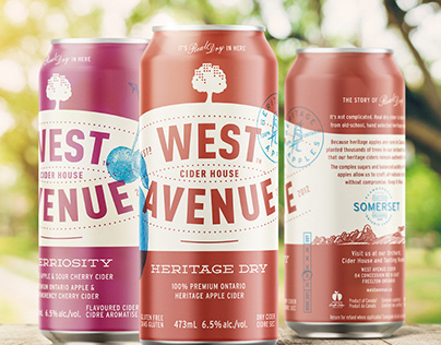 West Avenue Cider Can Design