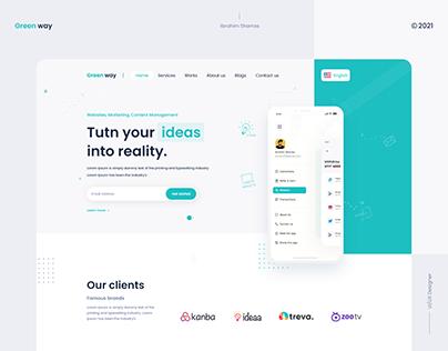 Green way - website design