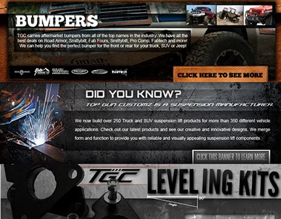 Web Banners For Top Gun Customz (2013)