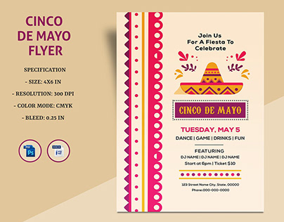 Cinco De Mayo Invitation Template