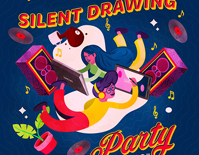 Wacom Silent Drawing Party