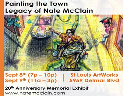Art Exhibit Sept 8th & 9th in St. Louis MO (Postcard)