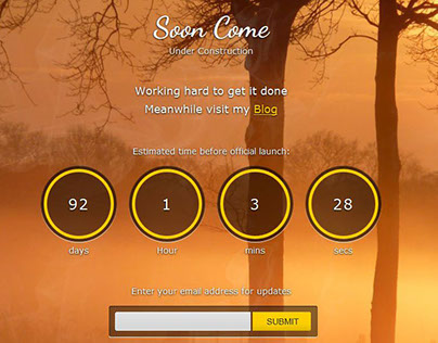 Soon Come - Under Construction Theme with Blog