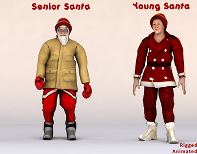 Santa Claus 3D mode
