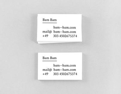 """Bam Bam"" Corporate Design"