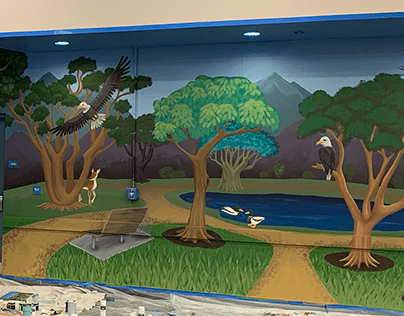 Library Mural, Garden Road Elementary Reading Room