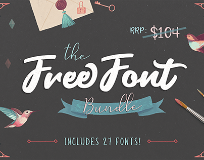 Free Font Bundle (Worth $104)