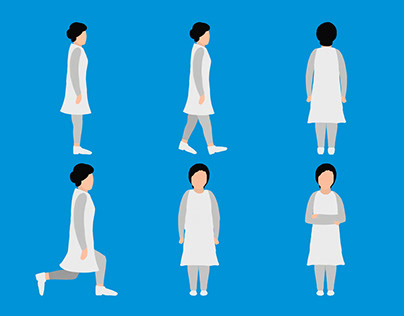 A female doctor flat character illustration