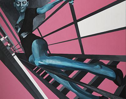 canvas, acrylic 140cm * 200cm Разболтавшийся контур