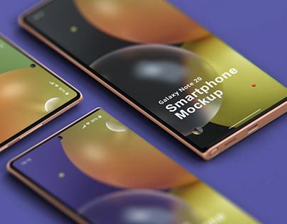 Phone Mockup Galaxy Note 20