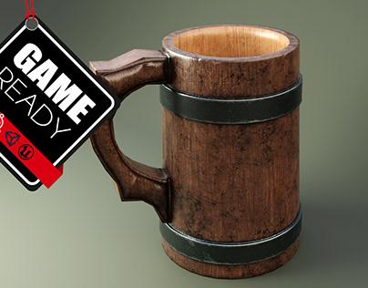 Medieval Mug low poly