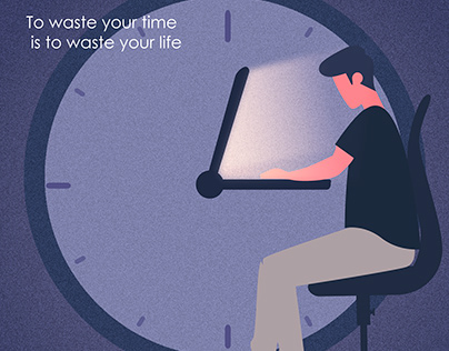 Awareness poster about time
