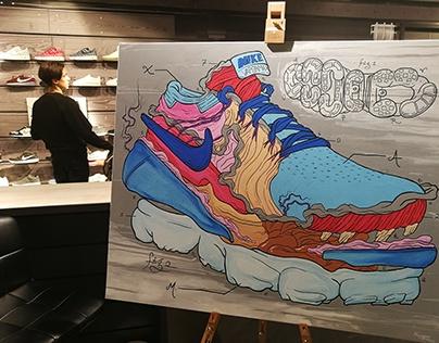 Live Painting Nike @ Citadium