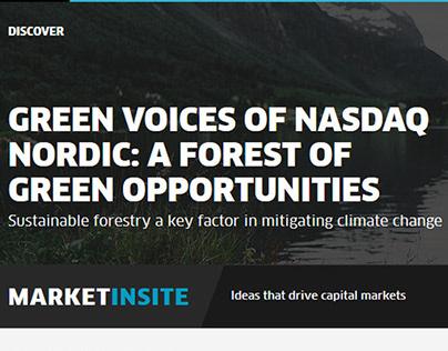 Nasdaq / Green Voices / Copy Creation & Editorial Desi