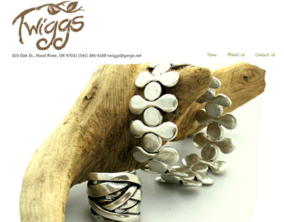 Website Design: Twiggs Jewelry & Custom Gifts
