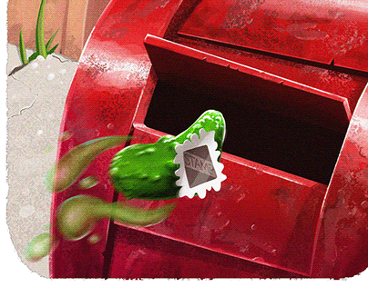 Illustrations for the book ,,A Pickle In The Post''