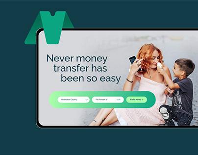Money Transfer Landing page