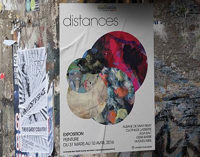 Distances, Art exhibition, Poster design