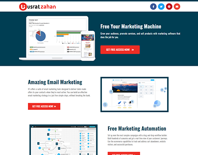 UsratZahan.com - Email Marketing Landing Page