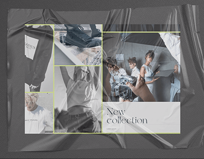 Interactive photo carousel for a fashion brand
