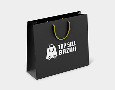 Logo Design For TOP SELL BAZAR