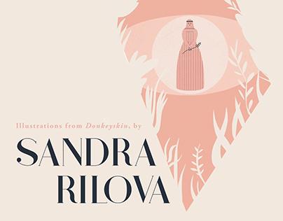 Artist Book for Sandra Rilova's Donkeyskin Illustration