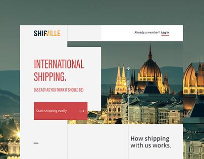 Shipville website redesign | Shipville
