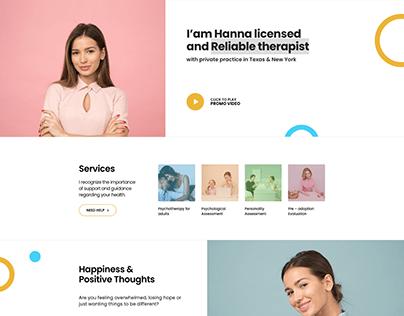 Reliable Therapist website design