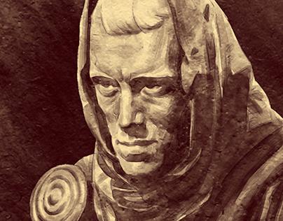 Antonius Block Portrait – In Memoriam Max von Sydow
