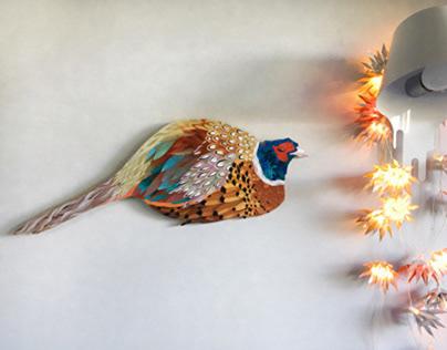 Pheasant bird wall decor