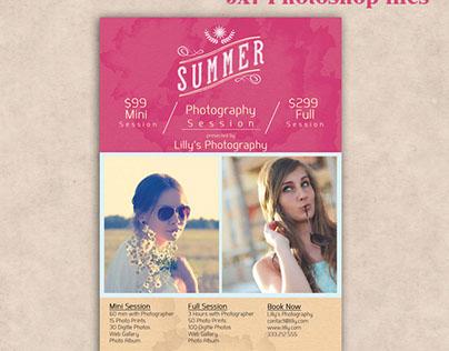 Photography Session advertising Template