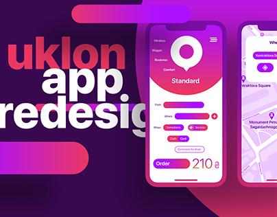 Uklon App Redesign