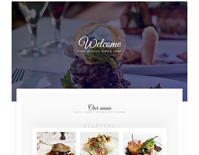 food responsible wordpress landing Page or squeeze page