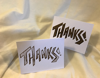 Hand drawn stamped cards