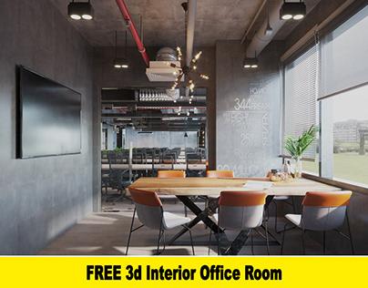 FREE 3d Interior Office Room