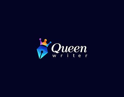 Logo design - queen writer