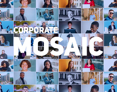 Mosaic Photo Reveal | Corporate Logo