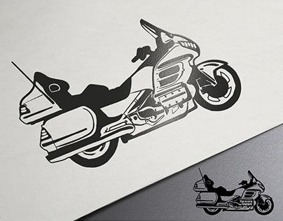 Векторный рисунок мотоцикла