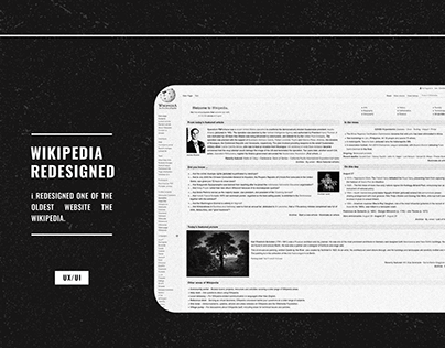 Website Redesign WIKIPEDIA Ux/Ui Design