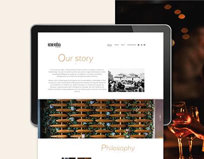 menta | web site presentation