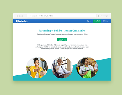 AWeber Chamber Program Landing Page