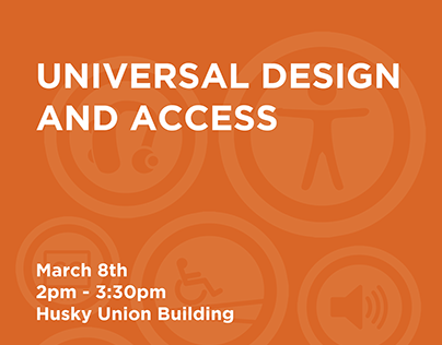 Universal Design and Access Talk Poster