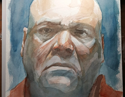Wilson Fisk from Marvel's Daredevil in Watercolor