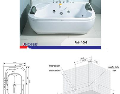 Một vài model bồn tắm góc kích thước 1m cho đến 1m2