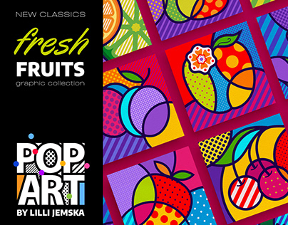 """FRESH FRUITS"" Pop Art graphic collection + patterns"